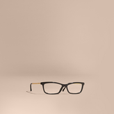 Burberry Metallic Detail Square Optical Frames
