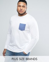French Connection PLUS Long Sleeve T-Shirt with Pocket
