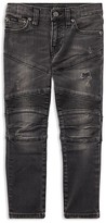 Ralph Lauren Boys' Distressed Skinny Moto Jeans - Little Kid