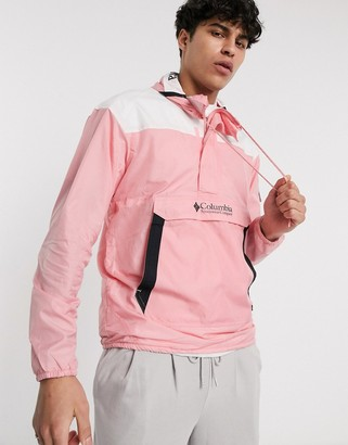 Columbia Hood River Challenger Windbreaker in pink