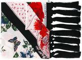 Alexander McQueen mixed print scarf - women - Silk/Viscose - One Size