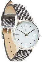 New Look Mono Woven Women's Quartz Watch with White Dial Analogue Display and Multicolour Imitation Leather Strap 3659143