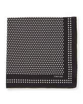 Tom Ford Dot Woven Pocket Square, Navy