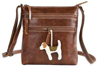 Stylish Leather Crossbody Crossover Bag for Women - Genuine Leather Crossbody Shoulder Handbag... ()