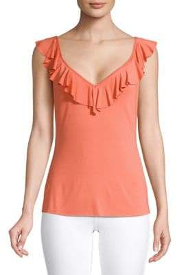 Bailey 44 Sleeveless Ruffle Top