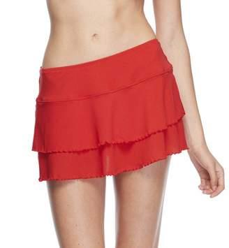 Body Glove Women's Lambada Solid Mesh Cover Up Skirt Swimsuit