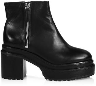 Cult Gaia Brenda Leather Platform Combat Boots