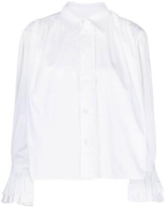 KHAITE Ruffle Detail Cotton Shirt