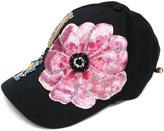 Dolce & Gabbana sequin patch cap - women - Cotton/Polyester/Spandex/Elastane/glass - 56