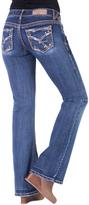 Amethyst Jeans Dark Blue Rhinestone-Pocket Nessa Bootcut Jeans