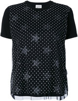 Twin-Set polka star T-shirt - women - Cotton/Polyamide/Spandex/Elastane - XXS