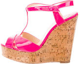 Christian Louboutin Cork T-Strap Wedges