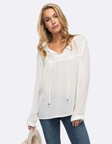 Roxy Womens Bubble Spirit Solid Long Sleeve Top