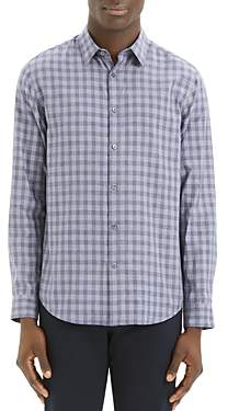 Theory Irving Visby Check-Print Regular Fit Shirt