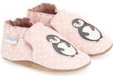 Robeez 'Piper Penguin' Crib Shoe (Baby & Walker)