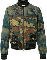 Dries Van Noten camouflage bomber jacket - men - Cotton/Linen/Flax - 48