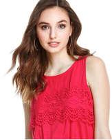 Joe Fresh Women's Lace Trim Dress, Bright Red (Size M)