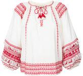 Sea drawstring tassel detail blouse - women - Cotton - XS
