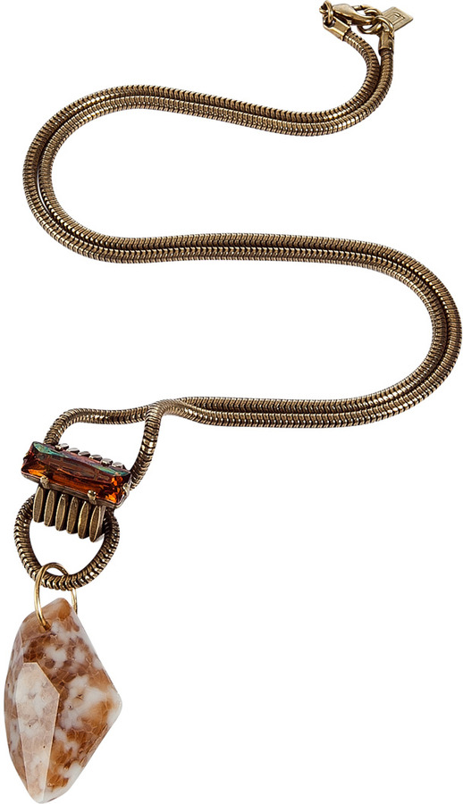 Dannijo The Clyde brass necklace with Swarovski crystals