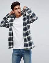 Jack and Jones Originals Flannel Shirt With Hood