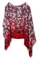 Vince Camuto Lace-print Poncho Blouse