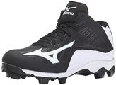 Mizuno 9 Spike ADV YTH FRHSE8 MD BK-WH Youth Molded Cleat (Little Kid/Big Kid)