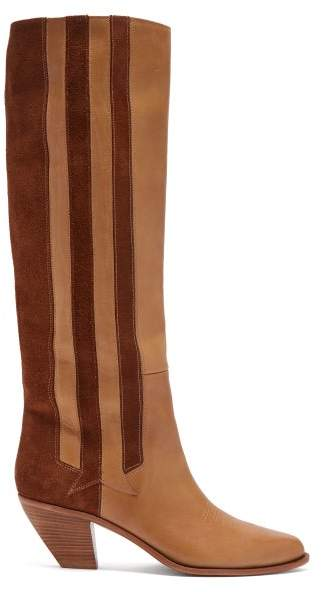 Golden Goose Nebbia Panelled Leather Boots - Womens - Tan