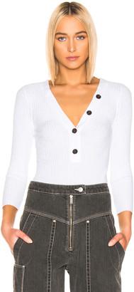 Enza Costa Long Sleeve Henley in White | FWRD