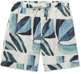Desmond & Dempsey Printed Linen Pyjama Shorts