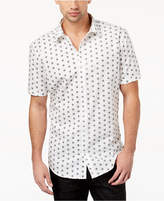 INC International Concepts Men's Skull-Print Shirt, Created for Macy's