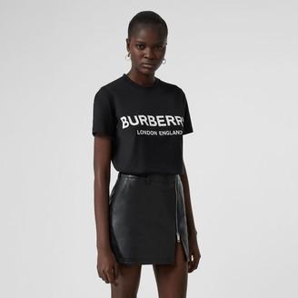 Burberry ogo Print Cotton T-shirt