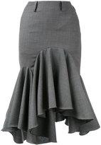 Facetasm fishtail skirt - women - Cupro/Wool - II