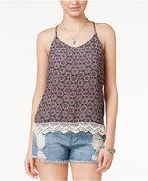 Miss Chievous Juniors' Crochet-Trim Strappy Top