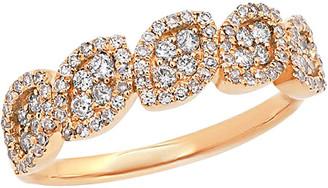 Diana M Fine Jewelry 14K Rose Gold 0.50 Ct. Tw. Diamond Ring