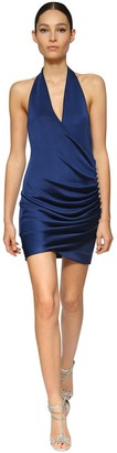 Azzaro DRAPED VISCOSE KNIT MINI DRESS