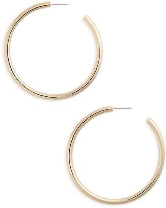 Halogen Large Sleek Tube Hoop Earrings