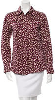 Derek Lam 10 Crosby Silk Cat Print Top