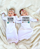 White 'Born Together' & 'Friends Forever' Gown Set - Infant