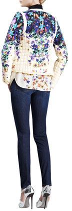Roberto Cavalli Slash-Pocket Skinny Jeans