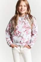 FOREVER 21 girls Girls Floral Print Hooded Anorak (Kids)