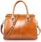 Yafeige Womens /Ladies Vintage Genuine Leather Tote Shoulder Bag Handbag Top-Handle Purse