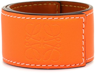 Loewe Anagram leather snap bracelet