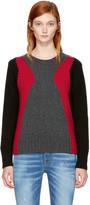 DSQUARED2 Multicolor Panel Crewneck Sweater