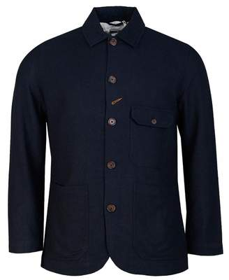 Universal Works Northfolk Bakers Jacket Colour: NAVY, Size: SMALL
