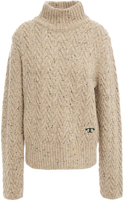 Tory Burch Donegal Cable-knit Wool Turtleneck Sweater