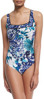 Gottex Legacy Paisley-Print One-Piece Swimsuit