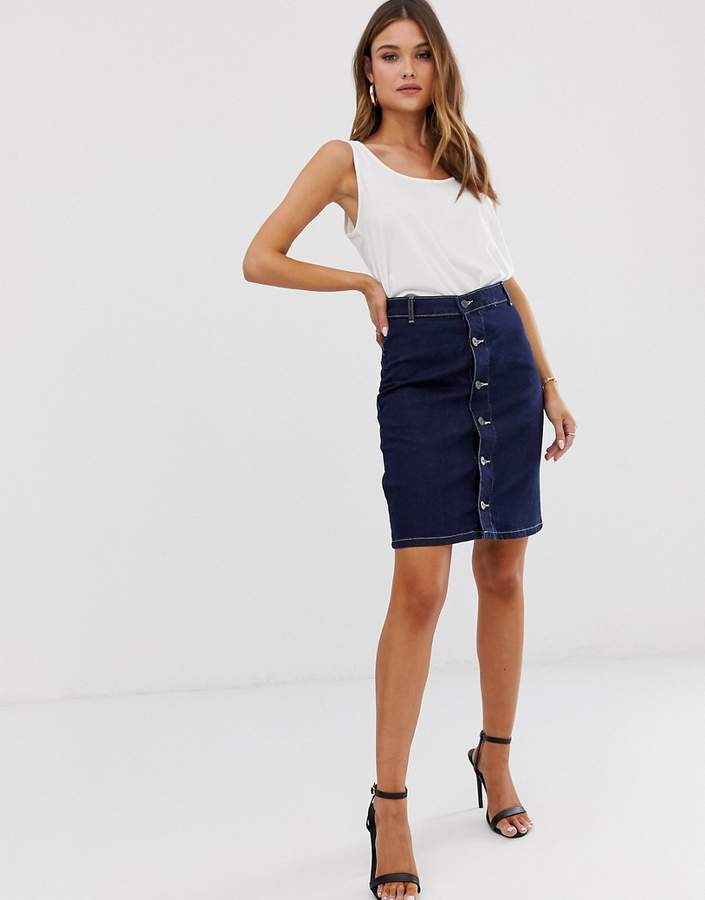 62d103ac0c Denim Skirt Buttons Down Front - ShopStyle UK