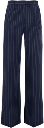 Paul & Joe Pinstriped Linen-blend Wide-leg Pants