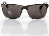 Marc by Marc Jacobs Brown Plastic Arm Metal Frame Square Lens Sunglasses In Case