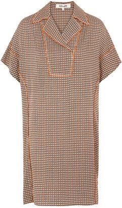 Diane von Furstenberg Maxine printed georgette tunic dress